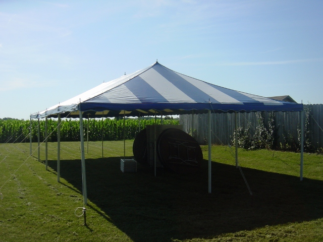 20x40 blue white canopy