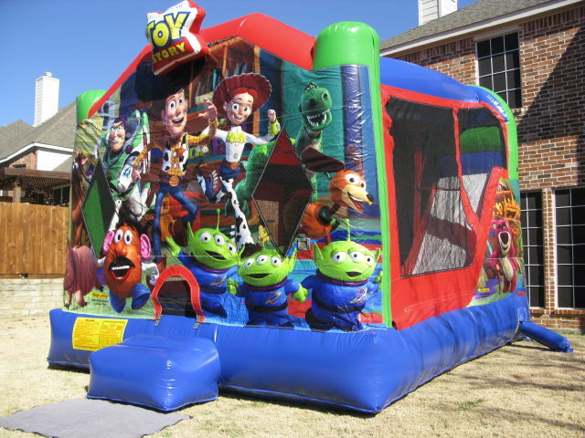 Where to find TOY STORY MOONWALK W  SLIDE in Kokomo