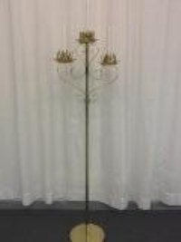 Where to rent PEW CANDLEABRA, 3-LITE BRASS W BASE in Kokomo IN