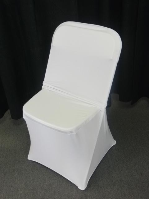 Where to find CHAIR COVER, WHITE SPANDEX in Kokomo