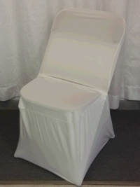 Where to rent CHAIR COVER, IVORY SPANDEX in Kokomo IN