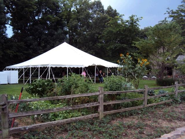 Where to find 40  X 40  WHITE POLE TENT INSTALLED in Kokomo