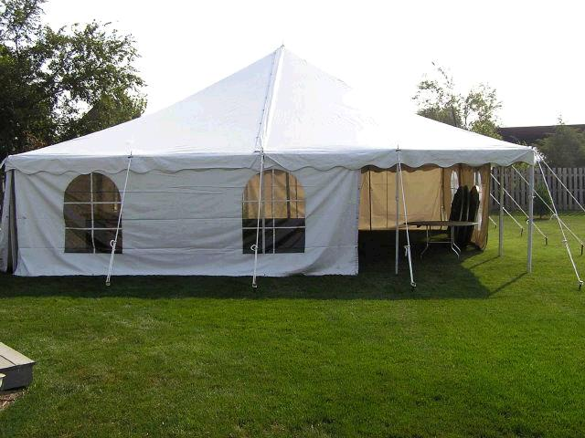 Where to find 30  X 30  WHITE POLE TENT INSTALLED in Kokomo