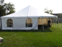 Where to rent 30  X 30  SEC WHITE POLE TENT INSTALLED in Kokomo IN