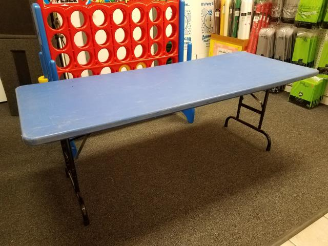 Where to find TABLE, 6  KIDS PLASTIC BLUE in Kokomo