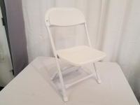 Where to rent CHAIR, KIDS FOLDING WHITE in Kokomo IN