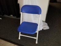 Where to rent CHAIR, KIDS FOLDING BLUE in Kokomo IN