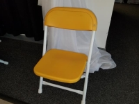 Where to rent CHAIR, KIDS FOLDING YELLOW in Kokomo IN