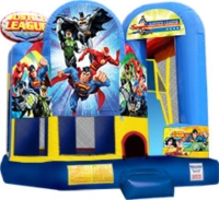 Where to rent JUSTICE LEAGUE MOONWALK W  SLIDE in Kokomo IN