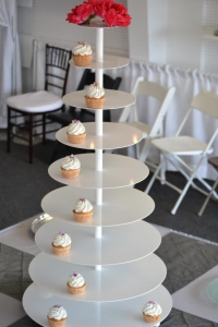 Where to rent WHITE CUPCAKE STAND, 9 TIER in Kokomo IN