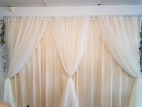 Where to rent 10 X10  IVORY SHEER DRAPE in Kokomo IN