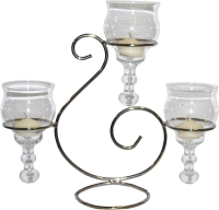 Where to rent TABLE CENTERPIECE, 3-LITE SCROLL, SILVER in Kokomo IN