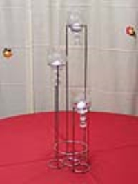 Where to rent TABLE CENTERPIECE, 3-RING 3-LITE SILVER in Kokomo IN