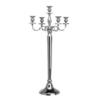 Where to rent TABLE CANDLEABRA,5-LITE SILVER 31  TALL in Kokomo IN