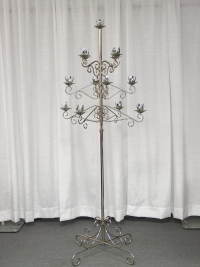 Where to rent TREE CANDLEABRA, 13-LITE SILVER in Kokomo IN