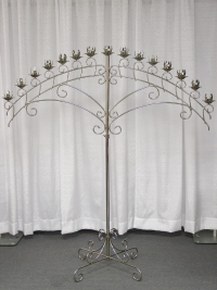 Where to rent ARCH CANDLEABRA, 15-LITE SILVER in Kokomo IN
