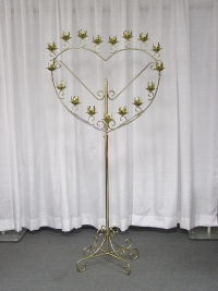 Where to rent SINGLE HEART CANDLEABRA, 17-LITE BRASS in Kokomo IN