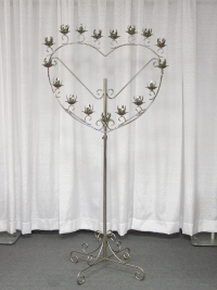 Where to rent SINGLE HEART CANDLEABRA, 17-LITE SILVER in Kokomo IN