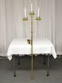 Where to rent PEW CANDLEABRA, 3-LITE BRASS in Kokomo IN
