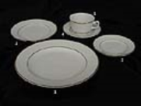 Where to rent SALAD PLATE, IVORY W DBL GOLD BAND 7 in Kokomo IN