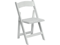 Where to rent CHAIR, FOLDING, WHITE PLASTIC W PAD SEAT in Kokomo IN
