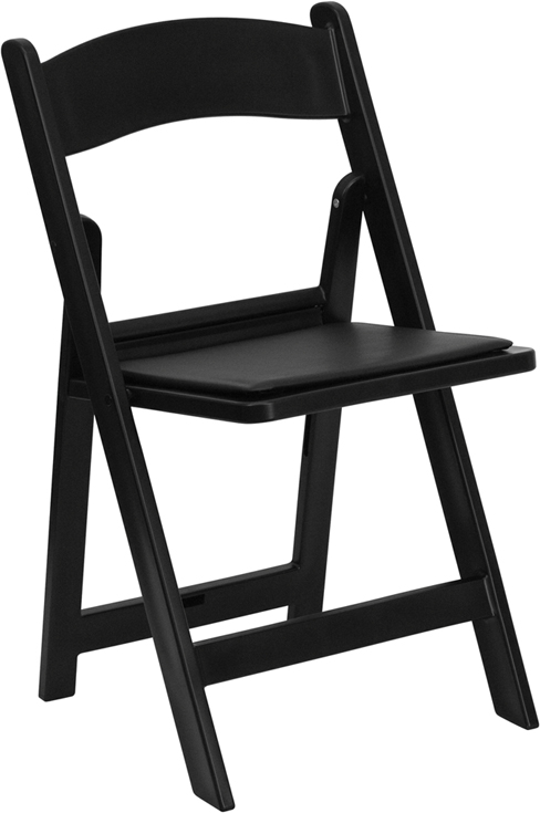 Where to find CHAIR, FOLDING, BLACK PLASTIC W PAD SEAT in Kokomo