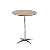 Where to rent TABLE, 30 X30 42H  RND, 3 PIECE PEDESTAL in Kokomo IN