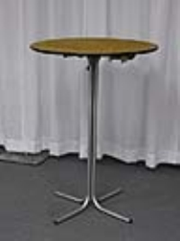 Where to rent TABLE, 30 X42H  ROUND, 1 PIECE PEDESTAL in Kokomo IN