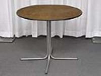 Where to rent TABLE, 36 X30H  ROUND, 1 PIECE PEDESTAL in Kokomo IN