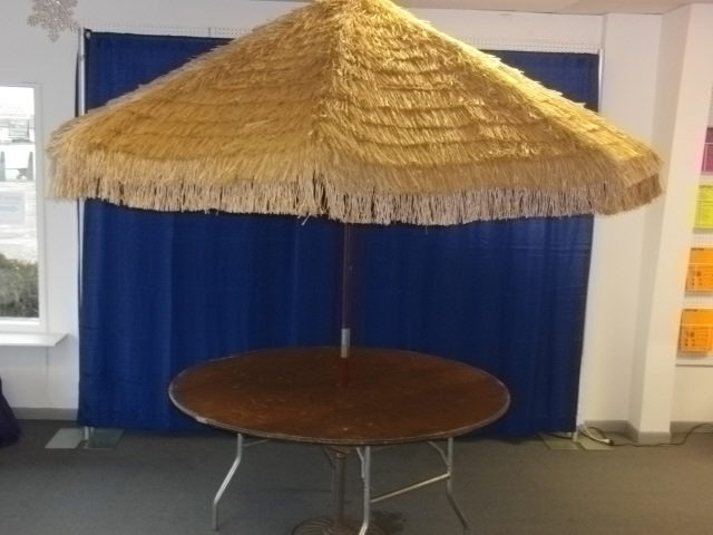 Where to find TABLE, 60  UMBRELLA TABLE  SEATS 6-8 in Kokomo