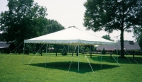 Where to rent 20X20  WHITE CANOPY-NO SIDES SETUP EXTRA in Kokomo IN