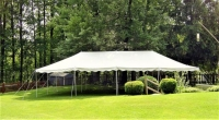 Where to rent 20X40  WHITE CANOPY-NO SIDES SETUP EXTRA in Kokomo IN