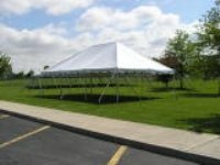 Where to rent 20  X 30  WHITE POLE TENT INSTALLED in Kokomo IN