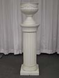 Where to rent LIGHTED COLUMN, W FERN POT,WHITE in Kokomo IN