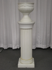 Where to rent LIGHTED COLUMN, W FERN POT,OFF WHITE in Kokomo IN