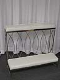 Where to rent KNEELING BENCH, DOUBLE WIDE, SILVER in Kokomo IN