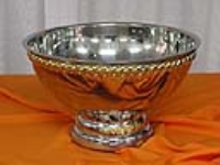 Where to rent PUNCH BOWL W LADLE, SILVER GOLD LACED in Kokomo IN