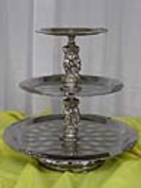 Where to rent TRAY, 3-TIERED SILVER W SILVER TRIM, 20 in Kokomo IN