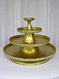 Where to rent TRAY, 3-TIERED GOLD ANODIZED, 30 in Kokomo IN