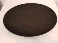 Where to rent SERVING TRAY W SUREGRIP BLACK 27 OVAL in Kokomo IN