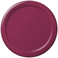 Where to rent .PLATE, 9IN BURGUNDY, 24CT in Kokomo IN