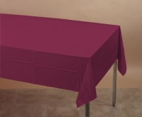 Where to rent .TABLECOVER, 54X108 BURGUNDY in Kokomo IN
